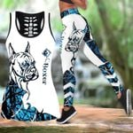 Ligerking™ Blue Boxer Tattoos Tank Top, Leggings 3D All Over Print HD05351