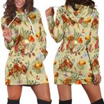 Ligerking™ Butterfly Mushroom Hoodie Dress HD05437