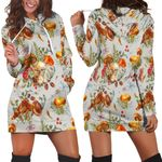 Ligerking™ Butterfly Mushroom Hoodie Dress HD05430