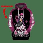 Ligerking™ Breast Cancer Skull Girl HD05627