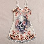 Ligerking™ Skull Rosie Jumpsuit for Women HD05439
