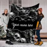 Ligerking™ Smoke Skull Fleece Blanket HD05766