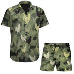 Ligerking™ Farmer Chicken Short Sleeve Shirt, Beach Shorts HD06390