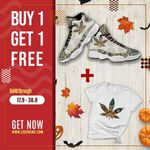 Ligerking™ 420 AJ13 Mandala Sneaker HD05578