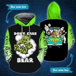Ligerking™ Green Weed Don't Care Bear all over print all size - Green Weed shirts