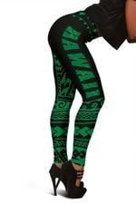 Hawaii Polynesian leggings Green - Fashion  Hado0137B