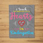Womens Teacher Valentines Day Kindergarten Teacher Gift Fleece Blanket