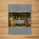 Womens The Last Supper Painting Catholic Easter Gifts Jesus Lent Fleece Blanket