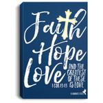 Womens Valentine's Day Christian Design Faith Hope Love Portrait Bed Room/ Living room Wall Art