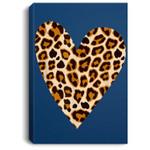 Cute Heart Valentines Leopard Pattern Top Women Portrait Bed Room/ Living room Wall Art