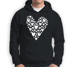 Cute Love Heart Valentines Day Red Top Sweatshirt & Hoodie