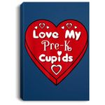 Cute Love My Pre-K Cupids For Teacher On Valentine's Day Portrait Bed Room/ Living room Wall Art
