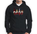 Cute Nordic Gnomes Love Hearts Leopard Plaid Sweatshirt & Hoodie