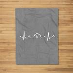 Car Speedometer Heartbeat design Gift for Car Guys Salesman Fleece Blanket