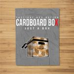 Cardboard Box Gear and Apparel for Video Games Fleece Blanket