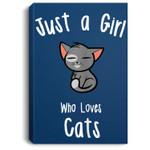 Cat for Girls Portrait Bed Room/ Living room Wall Art