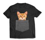 Cat in Pocket for Kids, Boy, Girl, Women, Men Gift T-Shirt