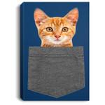 Cat in Pocket for Kids, Boy, Girl, Women, Men Gift Portrait Bed Room/ Living room Wall Art