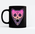 Pastel Goth Planchette Occult Cat - Creepy Vaporwave Black Mugs