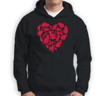 Valentines Day Cat Women Heart Funny Kitty Kitten Sweatshirt & Hoodie