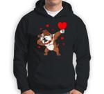 Valentines Day Dabbing Bulldog Funny Boys Girls Kids Dab Sweatshirt & Hoodie
