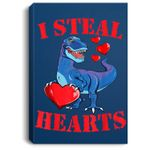 Valentines Day Dinosaur I Steal Hearts Gifts for Boys Portrait Bed Room/ Living room Wall Art