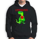 Valentines Day Dinosaur T Rex Boys Valentine Kids Lovesaurus Sweatshirt & Hoodie