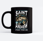 St Andrew Patron Saint of Fisherman Fishing Catholic Saint Black Mugs