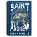 St Andrew Patron Saint of Fisherman Fishing Catholic Saint Portrait Bed Room/ Living room Wall Art
