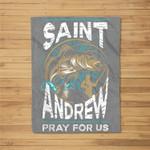 St Andrew Patron Saint of Fisherman Fishing Catholic Saint Fleece Blanket