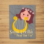 St Cecilia Patron Saint of Music Musicians Catholic Cute Fleece Blanket