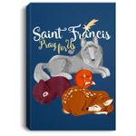 Saint Francis of Assisi Patron of Animals Wolf Animal Lover Portrait Bed Room/ Living room Wall Art