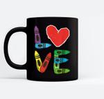 PreK Teacher PreSchool Valentines Day LOVE Gift Black Mugs