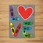 PreK Teacher PreSchool Valentines Day LOVE Gift Fleece Blanket