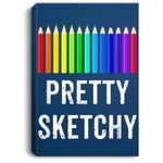 Pretty Sketchy Fun Art Lover Colored Pencils Artists Gift Portrait Bed Room/ Living room Wall Art