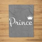 Prince and Princess Matching Couple Outfits Fleece Blanket