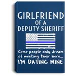 Proud Girlfriend Of A Deputy Sheriff Thin Blue Line US Flag Portrait Bed Room/ Living room Wall Art