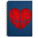 Basketball Heart Valentine's Day For Boys Girls Gift Portrait Bed Room/ Living room Wall Art