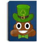 Leprechaun Poop Emojis Cute St Patrick's Day Portrait Canvas