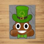 Leprechaun Poop Emojis Cute St Patrick's Day Fleece Blanket