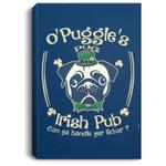 Leprechaun Pug Irish Shamrock St Patrick's Day Portrait Canvas