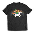 Leprechaun Riding a Unicorn rainbow St Patricks Day T-Shirt