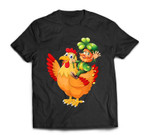 Leprechaun Riding Chicken St Patrick's Day Gift T-Shirt