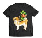 Leprechaun Riding Japanese Chin Dog St Patricks Day T-Shirt