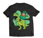 Leprechaun Riding T Rex Dinosaur St Patricks Day Gift T-Shirt