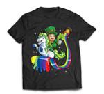 Leprechaun Riding Unicorn St Patricks Day Girls Lepricorn T-Shirt