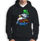 Leprechaun Shark Pirate St Patricks Beer Irish Party Sweatshirt & Hoodie