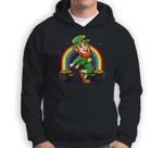 Leprechaun Shoot Dance St. Patrick's Day Rainbow Sweatshirt & Hoodie