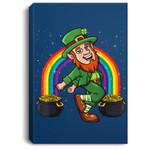 Leprechaun Shoot Dance St. Patrick's Day Rainbow Portrait Canvas