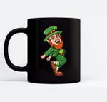 Leprechaun Shoot Dance St. Patrick's Day Black Mugs